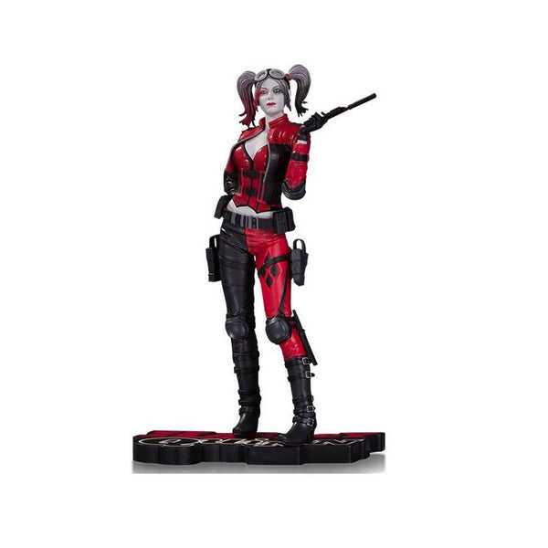 Harley Quinn - DC Comics- Injustice 2 Red White & Black Statue - DC Collectibles - Woozy Moo - 1