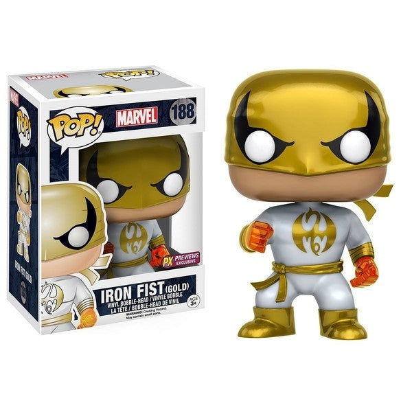 Marvel Pop! Vinyl Figure - Iron Fist (Gold) White Costume - Exclusive - Funko - Woozy Moo