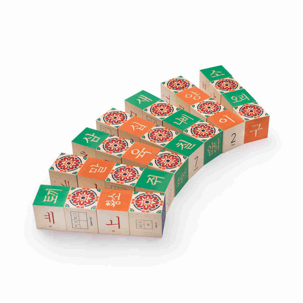 Korean Language Building Blocks - Uncle Goose - Uncle Goose - Woozy Moo