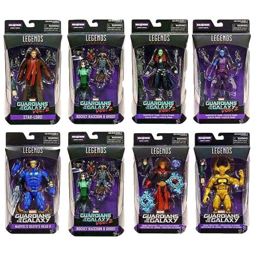 "Marvel Legends Guardians of the Galaxy 6"" Wave 2 Set of 8 - Hasbro - Woozy Moo"
