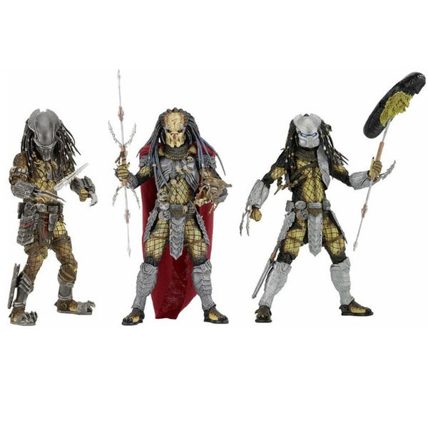 "Alien vs. Predator: Predators 7"" Figure Series 17 - Set of 3 - NECA - Woozy Moo - 1"