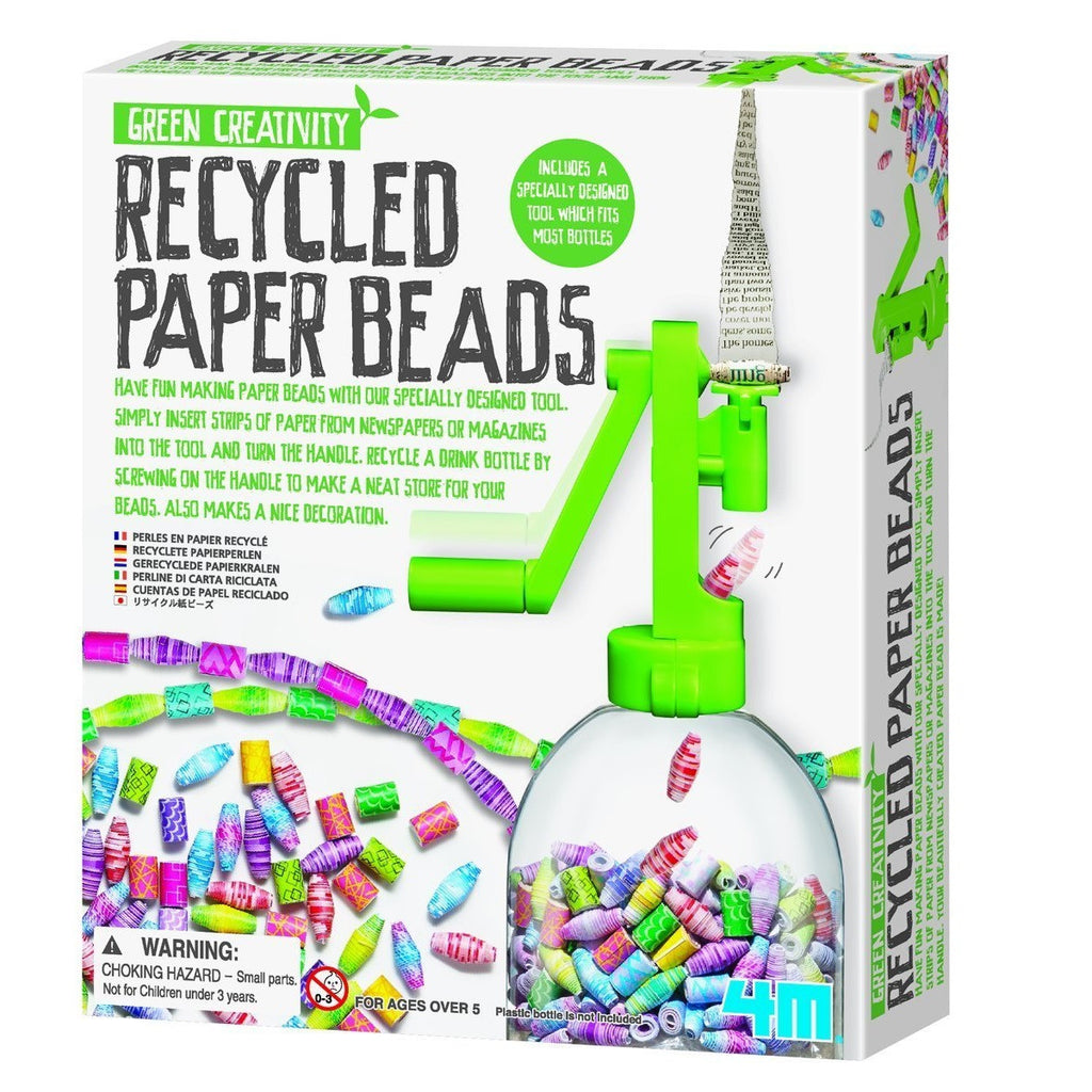 Recycled Paper Beads Kit - 4M - Woozy Moo - 1