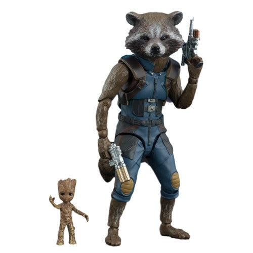 Rocket Raccoon & Baby Groot | Marvel Cinematic Universe Guardians of the Galaxy Vol. 2 (GotG2) | Figuarts (S.H.Figuarts) | Bandai Tamashii Nations | Woozy Moo
