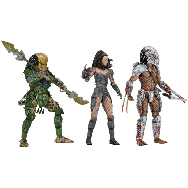 "Predator Series 18 Set of 3 - Alien vs Predator - 7"" Scale Action Figures - NECA - Woozy Moo"