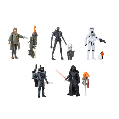 Star Wars Rogue One Build-A-Weapon Wave 1 - 3.75'' - Set of 5 - Hasbro - Woozy Moo