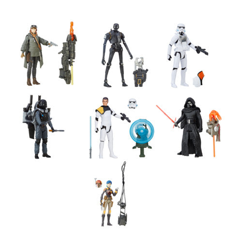 Star Wars Rogue One Build-A-Weapon Wave 1 - 3.75'' - Set of 7 - Hasbro - Woozy Moo