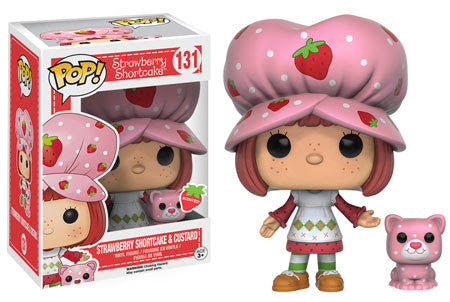 Strawberry Shortcake & Custard - Scented Pop! Vinyl Figure - Funko - Woozy Moo