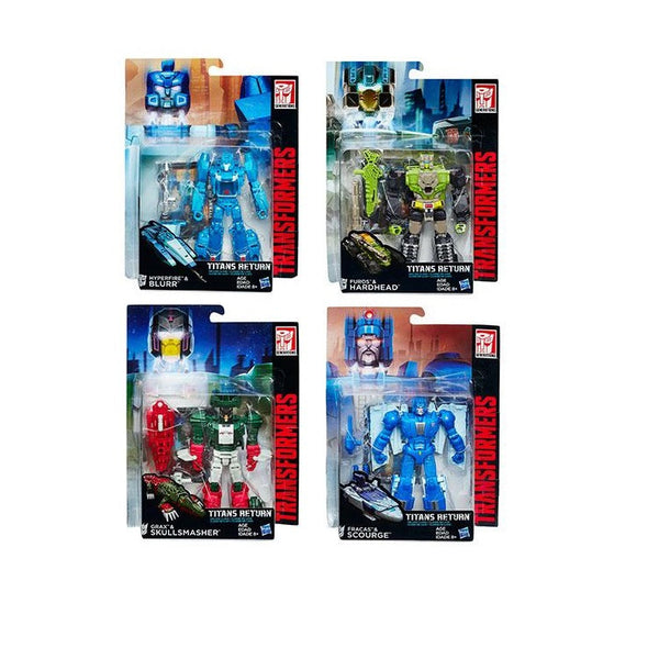 Transformers Titans Return Deluxe Class - Wave 1 Set of 4 - Hasbro - Woozy Moo - 1