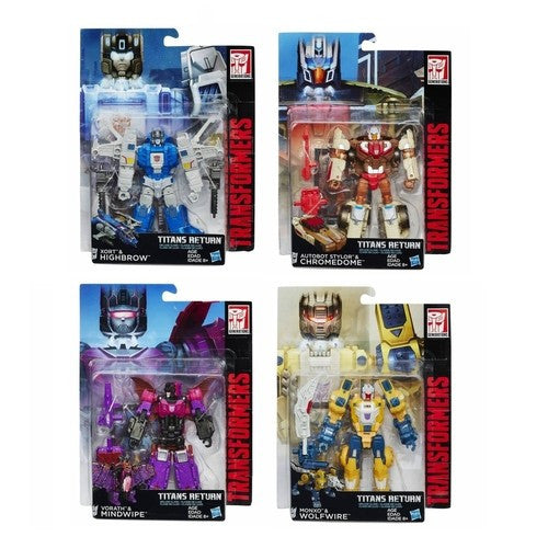 Transformers Titans Return Deluxe Class - Wave 2 Set of 4 - Hasbro - Woozy Moo - 1