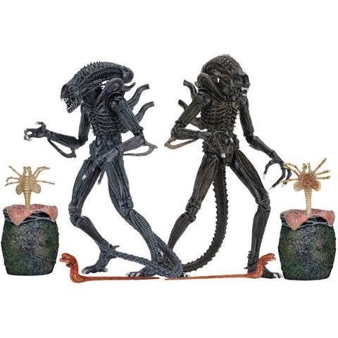 "Ultimate Alien Warrior 1986 Aliens 7"" Scale Action Figures Set of 2"