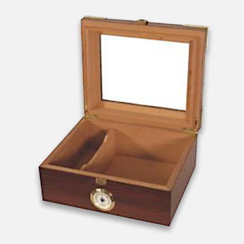 Capri Elegant Glass Top Humidor – 50 Count
