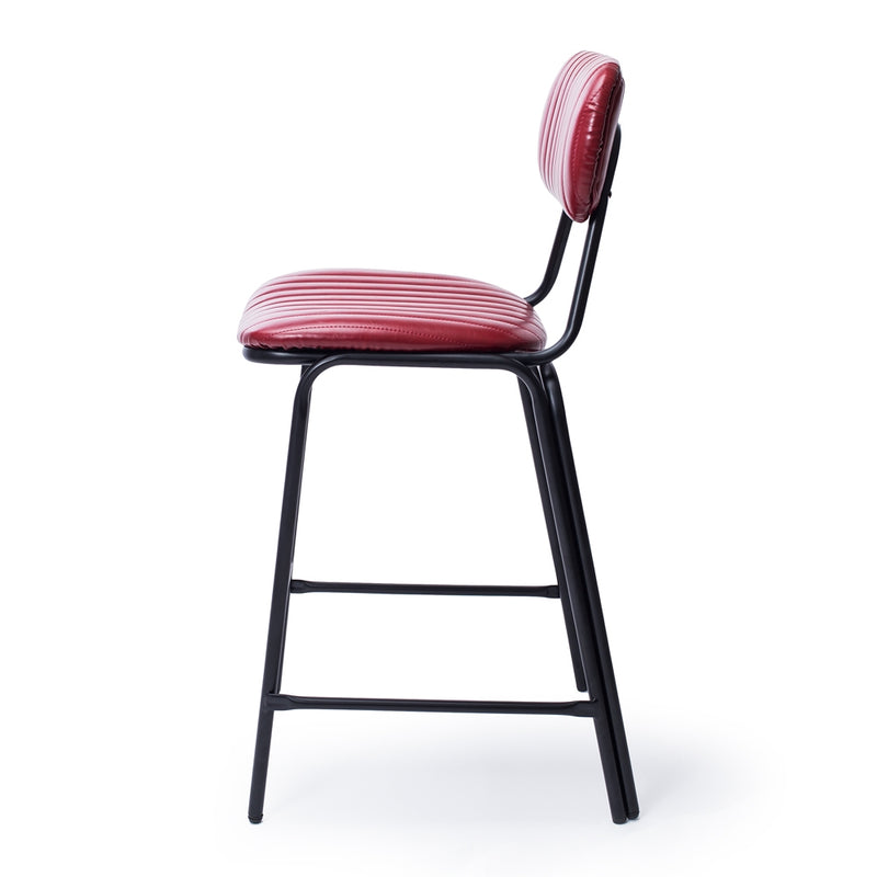 Datsun Barstool Vintage Red PU *PREORDER* - Furniture and Homewares Upper Hutt