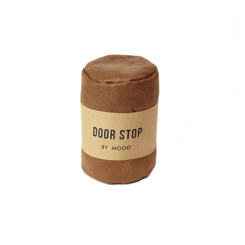 Door Stop - Brown Leather - Furniture and Homewares Upper Hutt