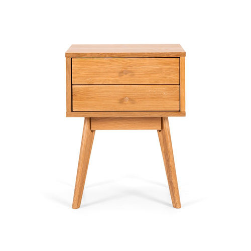 Radius 2 Tower Bedside - Oak Drawers