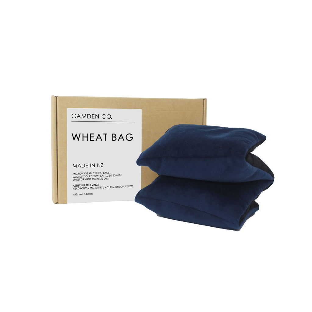 Wheat Bag - Navy Velvet