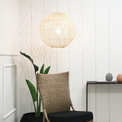 Lightshade - Round Palm Leaf