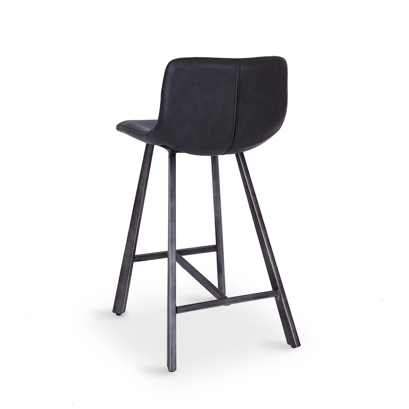 Rustic Barstool Vintage Grey PU - Furniture and Homewares Upper Hutt