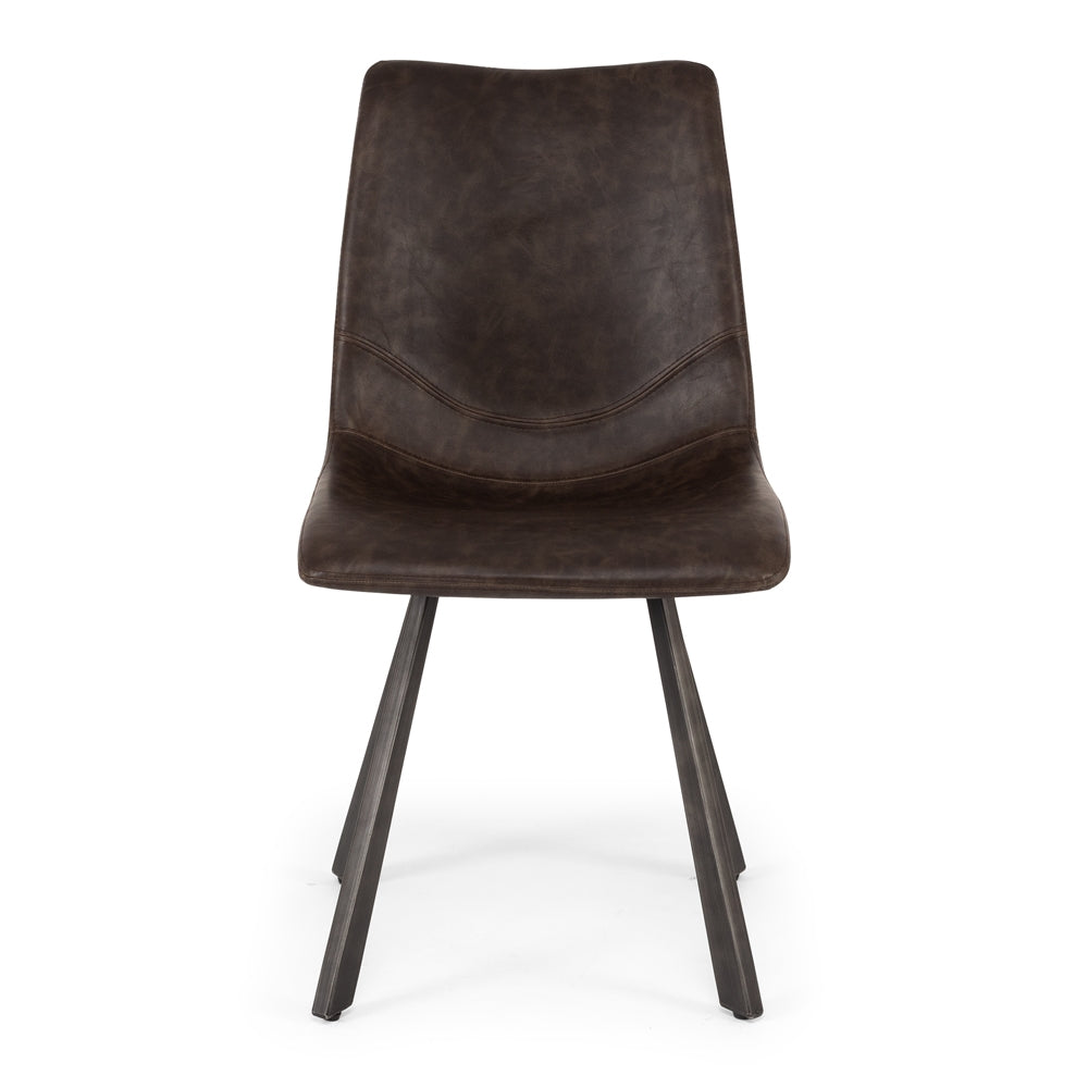Rustic Vintage Dining Chair - Dark Brown