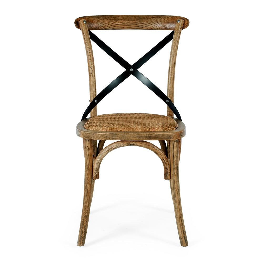 Villa X Back Dining Chair - Smoked Oak Rattan Seat
