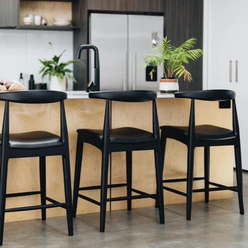 Elbow Barstool - Black