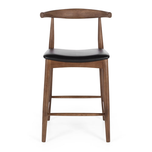 Elbow Barstool - Deep Oak