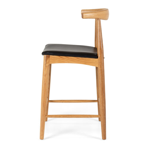 Elbow Barstool - Oak