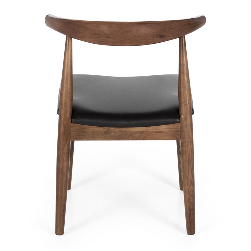 Elbow Dining Chair - Deep Oak