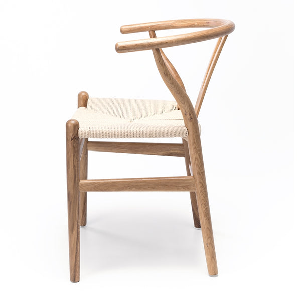 Wishbone Dining Chair  - Natural Oak Natural Rope Seat