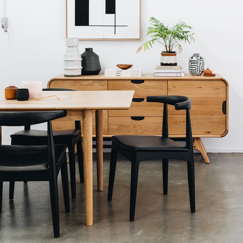 Elbow Dining Chair - Black