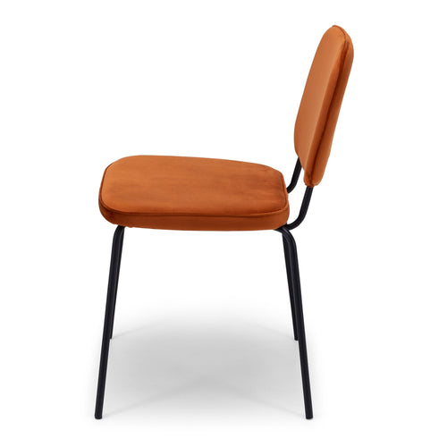 Clyde Dining Chair - Burnt Orange