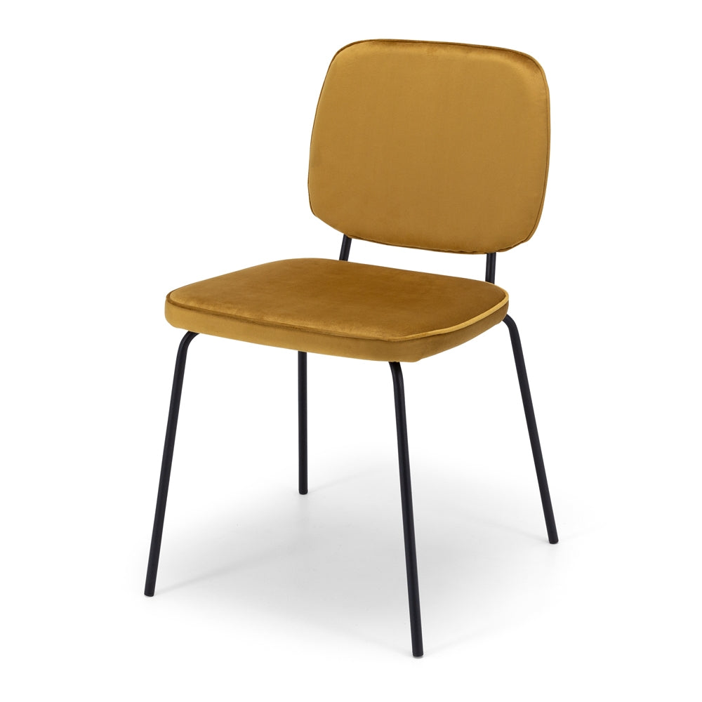 Benny Dining Chair - Mustard