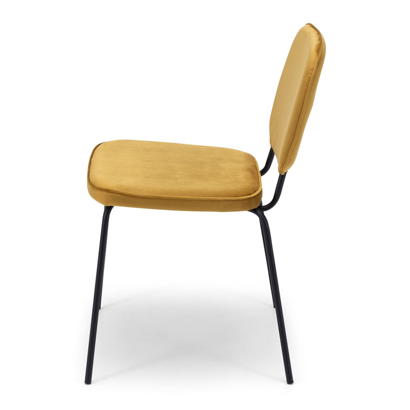 Clyde Dining Chair - Mustard