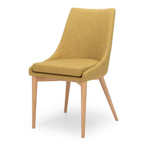 Eva Dining Chair - Jewelled Yellow - Furniture and Homewares Upper Hutt