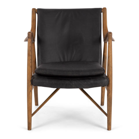 Lappland Armchair Black Wax Leather - Furniture and Homewares Upper Hutt