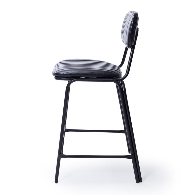 Datsun Barstool Vintage Black PU - Furniture and Homewares Upper Hutt