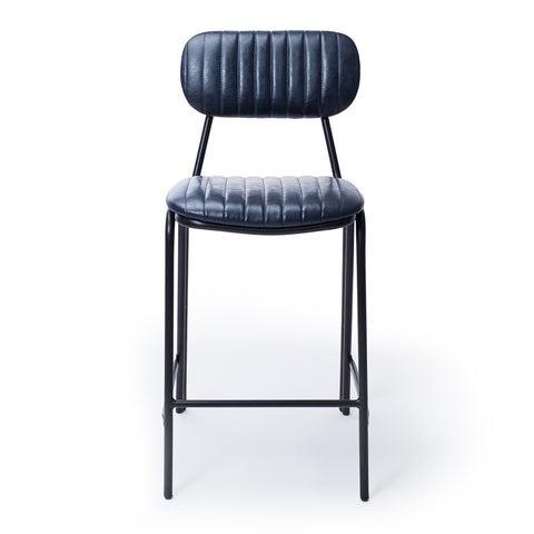 Datsun Barstool Vintage Blue PU - Furniture and Homewares Upper Hutt