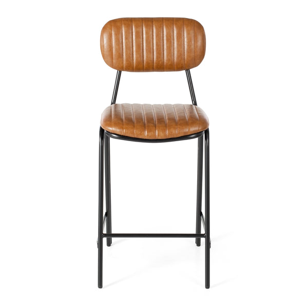Datsun Barstool Vintage Brown PU - Furniture and Homewares Upper Hutt