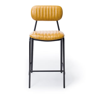 Datsun Barstool Vintage Mustard PU *PREORDER* - Furniture and Homewares Upper Hutt