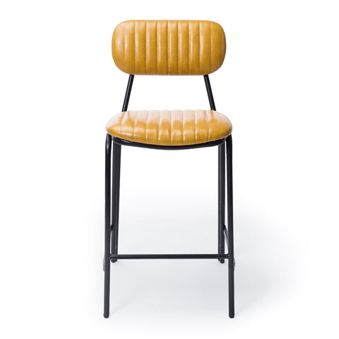 Datsun Barstool Vintage Mustard PU - Furniture and Homewares Upper Hutt