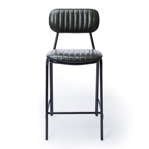 Datsun Barstool Vintage Moss PU *PREORDER* - Furniture and Homewares Upper Hutt