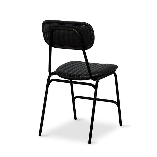 Datsun Dining Chair Vintage Black PU - Furniture and Homewares Upper Hutt