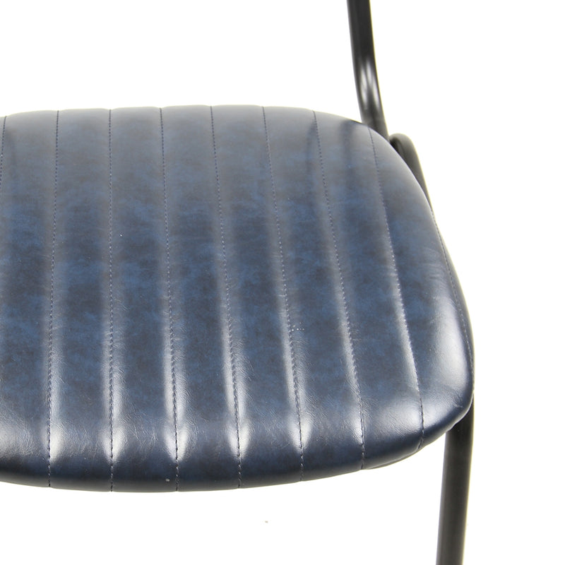 Datsun Dining Chair Vintage Blue PU - Furniture and Homewares Upper Hutt