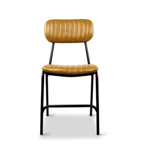 Datsun Dining Chair Vintage Mustard PU - Furniture and Homewares Upper Hutt