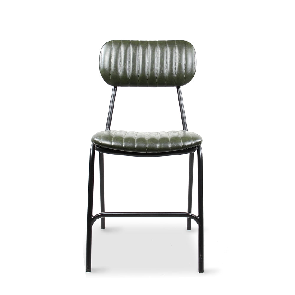 Datsun Dining Chair Vintage Green PU - Furniture and Homewares Upper Hutt