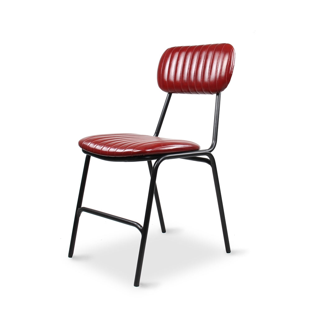 Datsun Dining Chair Vintage Red PU - Furniture and Homewares Upper Hutt