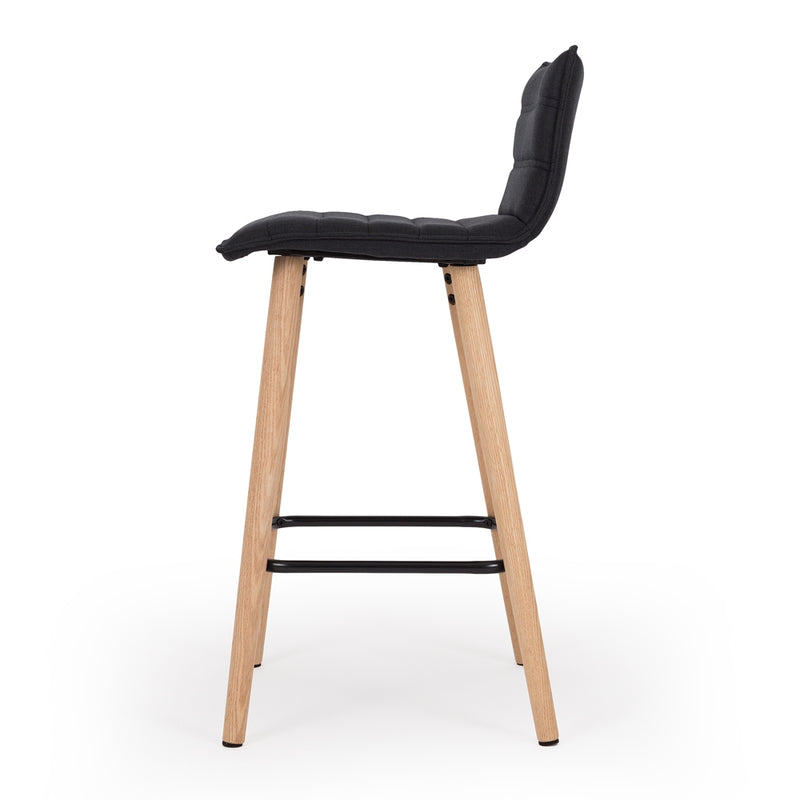 Liva Barstool Black - Furniture and Homewares Upper Hutt