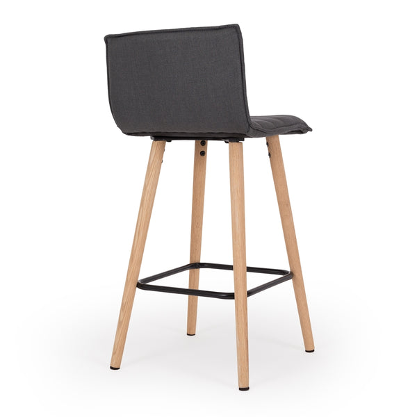 Liva Barstool Dark Grey - Furniture and Homewares Upper Hutt