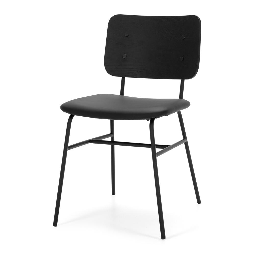 Lukas Dining Chair - Black Panel