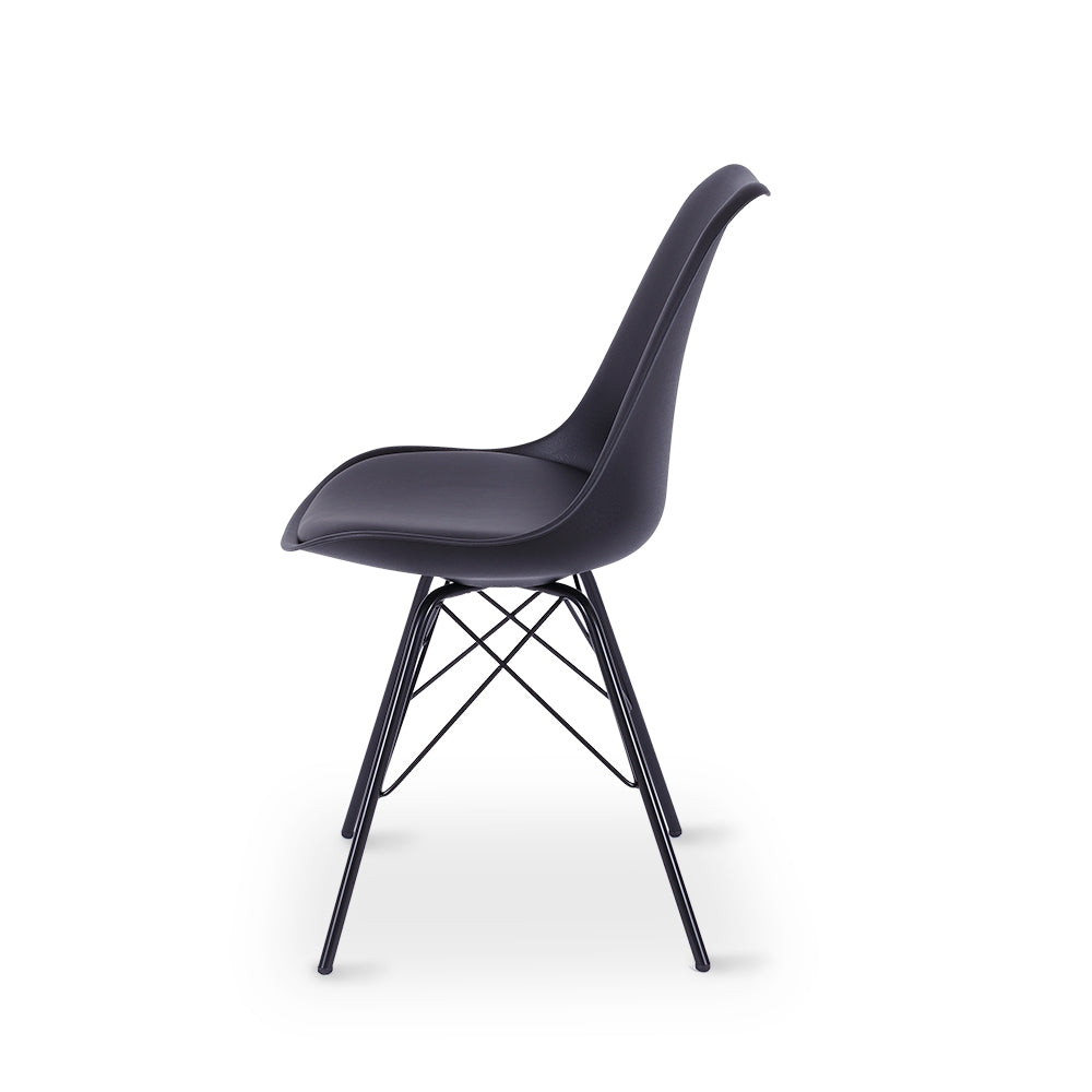 Rake Dining Chair - Black