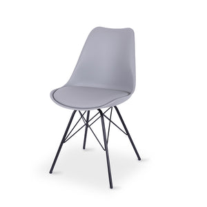Rake Dining Chair - Grey - Furniture and Homewares Upper Hutt